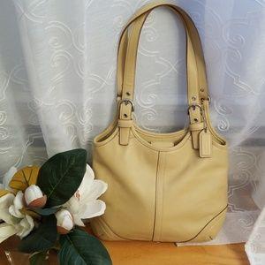 NWT Authentic Coach Cream Bag